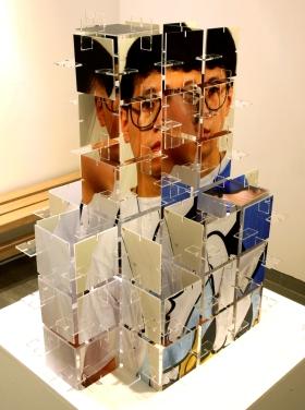 tazo-Young jun, 67x67x35cm, acrylic panel, digital print, 2010
